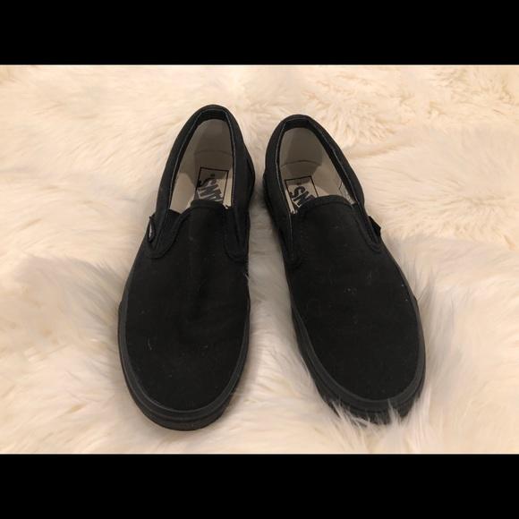 Vans Shoes | Womens Size 6 All Black